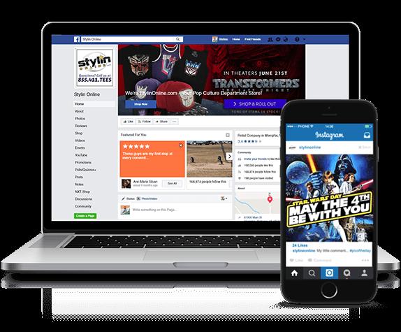 ecommerce website development - Social Commerce image for social media eCommerce