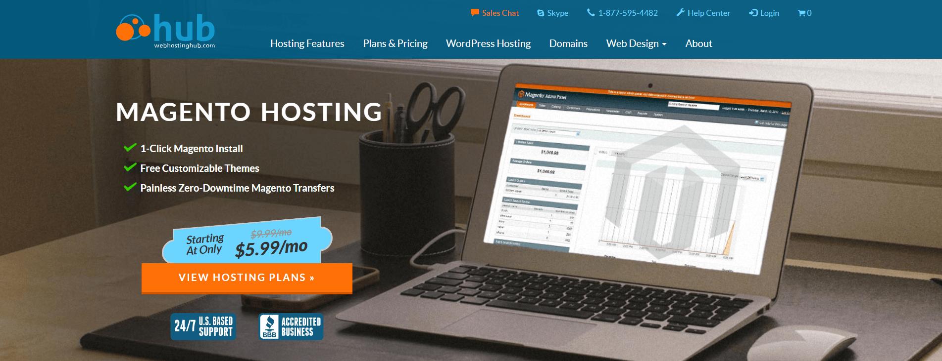 WebHostingHub Magento Hosting Provider Image