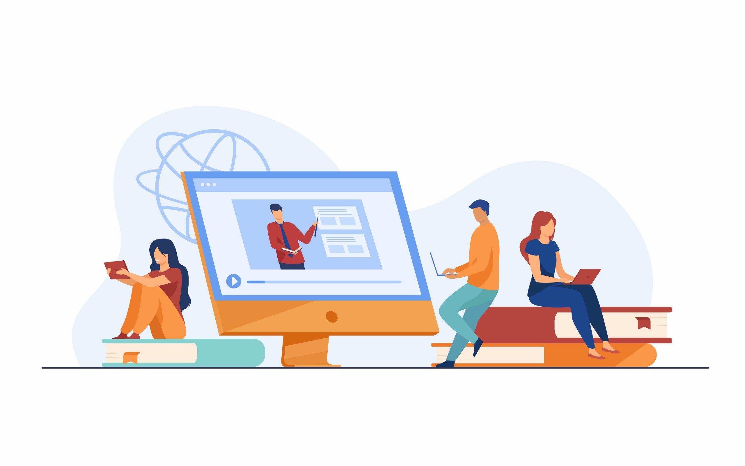 online webinar watching students